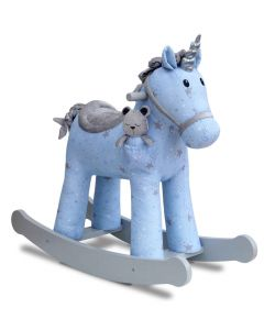 Blue Moonbeam Fabric Unicorn Rocking Horse for Kids - OUT OF STOCK