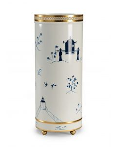 Blue on White Chinoiserie Umbrella Stand - ON BACKORDER UNTIL LATE APRIL 2019