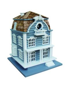 Blue Sag Harbor Birdhouse with Mansard Roof