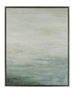 Blue, Turquoise and Gray Watercolor Framed Wall Art