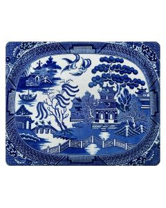 Blue Willow Glass Cutting Board-Available in Two Different Sizes