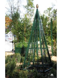Bastille Dark Green Obelisks in Aluminum with Pinecone Final – Available in Three Sizes and Can be Customized