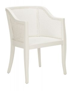 Bradley Contemporary White Cane Dining Chair - ON BACKORDER UNTIL FEBRUARY 2020