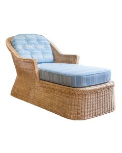 Braided Chatham Wicker Chaise - Available in Variety of Finishes