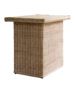 Braided Wicker Chatham Rectangular Side Table - Available in Variety of Finishes