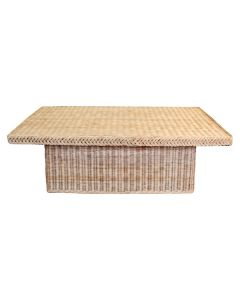 Braided Chatham Rectangular Wicker Coffee Table - Available in Variety of Finishes
