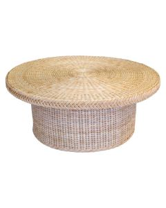 Braided Chatham Round Wicker Coffee Table - Available in Variety of Finishes