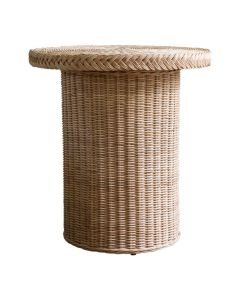 Braided Chatham Round Wicker Side Table - Available in Variety of Finishes
