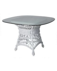Braided Wicker Dining Table Base – Available in a Variety of Finishes
