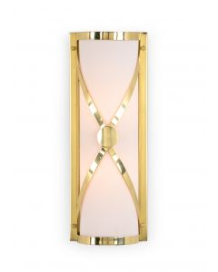Brass Criss Cross Wall Sconce - LOW STOCK
