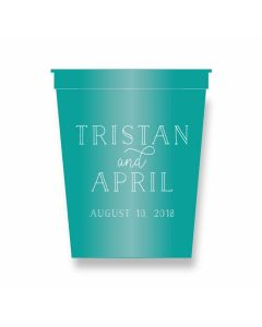 Bride and Groom Personalized Party Cups