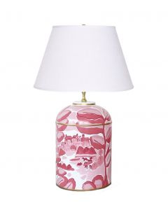 Bristow in Pink Tea Caddy Lamp