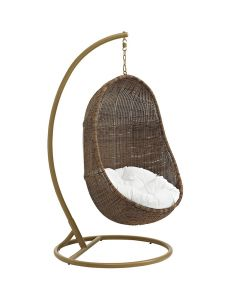 Brown Outdoor Egg Swing Chair