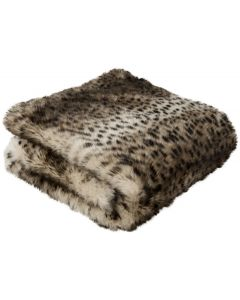 Brown and Black Faux Leopard Throw Blanket
