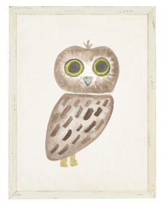 Brown Owl in Shadowbox Children's Wall Art - Available in Two Different Sizes