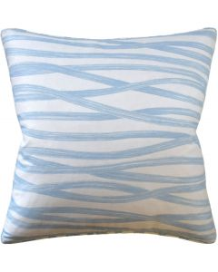 Brush Strokes Design Square Decorative Pillow in Sky Blue – Available in Two Sizes