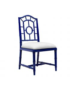 Bungalow 5 Chloe Faux Bamboo Side Chair in Blue