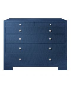 Bungalow 5 Frances 6-Drawer Dresser in Navy Grasscloth