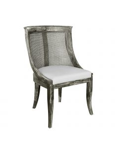 Bungalow 5 Solid Oak Caned Monaco Armchair in Grey