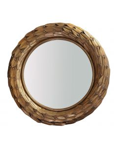 Bungalow 5 Athena Laurel Wreath Mirror in Gold - ON BACKORDER UNTIL EARLY APRIL 2021