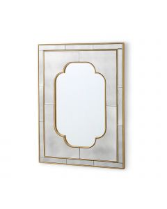 Bungalow 5 Cassia Quatrefoil Large Mirror with Gold Leaf Frame