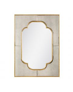 Bungalow 5 Cassia Quatrefoil Mirror in Antique Gold