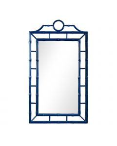 Bungalow 5 Chloe Chippendale Bamboo Fretwork Mirror in Blue