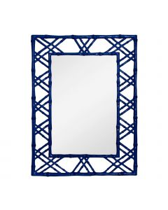 Bungalow 5 Claire Bamboo Mirror in Blue