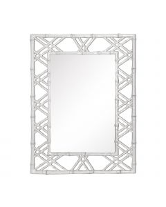 Bungalow 5 Claire Bamboo Mirror in White