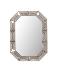 Bungalow 5 Romano Mirror with Antique Mirrored Wood Frame