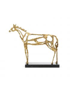 Bungalow 5 Surrealist Arabian Horse Statue in Gold