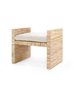Bungalow 5 H-Bench in Natural Lacquered Raffia - ON BACKORDER UNTIL AUGUST 2019