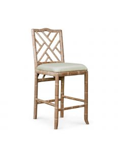 Bungalow 5 Hampton Bamboo Fretwork Counter Stool in Natural