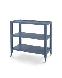 Bungalow 5 Isadora Console Table in Blue with Brass Wheels - ON BACKORDER UNTIL LATE MAY 2021