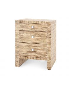 Bungalow 5 Morgan Papyrus 3-Drawer Side Table in Natural - ON BACKORDER