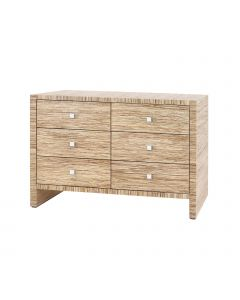 Bungalow 5 Morgan Papyrus Extra Large 6-Drawer Chest in Natural - ON BACKORDER UNTIL EARLY JUNE 2021