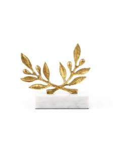 Bungalow 5 Art Decor Olive Branch Statue in Gold