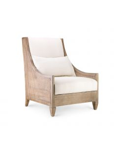 Bungalow 5 French Caned Raleigh Club Chair in Driftwood