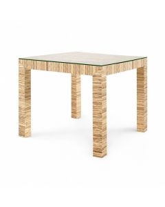 Bungalow 5 Valentina Papyrus Game Table in Natural - CALL TO CONFIRM AVAILABILITY