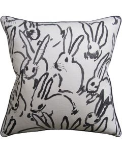 Black Bunny Design Decorative Square Throw Pillow - Available in Two Sizes