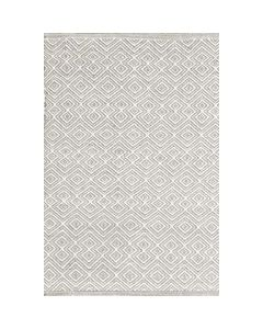 Bunny Williams Anabelle Grey Diamond Pattern Indoor Outdoor Rug - Available in a Variety of Sizes