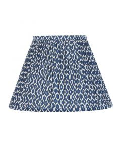 Bunny Williams Bluebird Navy Blue & White Ikat Lampshade, Available in Two Sizes