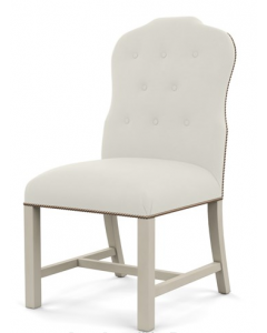 Bunny Williams Jack Button Tufted Dining Chair - More Fabrics & Finishes Available