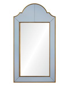 Bunny Williams Gold Speckle & Grey Mirror Framed Mirror