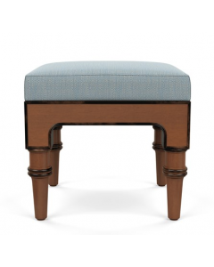Bunny Williams Lauren Stool with Upholstered Seat - Available in a Variety of Fabrics & Finishes