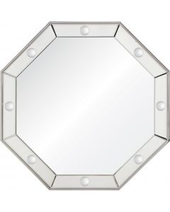 Bunny Williams Octavia Polished Stainless Steel Wall Mirror