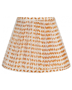 Bunny Williams Roxbury Lampshade in Orange & White - Available in Two Sizes