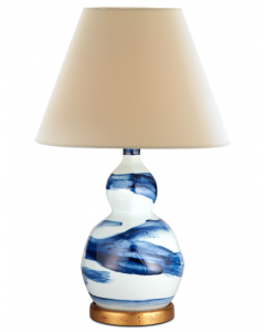 Bunny Williams Small Brush Stroke Lamp in Blue & White