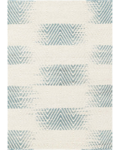 Bunny Williams Tansey Woven Wool Rug in Blue & White - Available in a Variety of Sizes