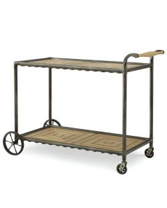 Bunny Williams Teak Indoor Outdoor Drink Cart